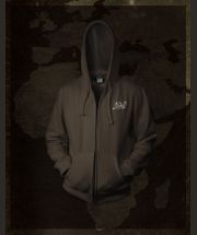 Africa Expedition - Brown -  Hoody with zipper