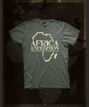 Africa Expedition - Army Green -  T-Shirt